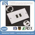 2-портовый HDMI 1080P настенный корпус лицевой панели удлинитель удлинителя 3D White