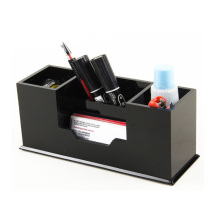The factory wholesale Design 4 Compartments Acrylic Office stationery storage box For Decoration