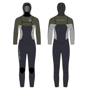 Seaskin Girls Winter Hooded Surfing Wetsuits