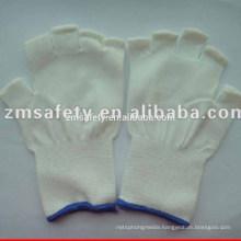 Half finger 13 gauge polyester glove