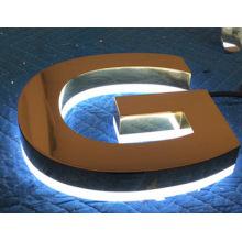 2016 beliebte LED Backlit Kanal Brief Schilder, dekorative Metall LED Alphabet Buchstaben mit Wasserdichte LED Streifen