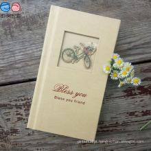 Customized Hardcover 48k Flocking Pattern Notebook