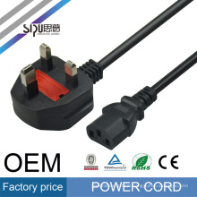 SIPU high speed computer power cable for Laptop wholesale AC best price UK style power cord