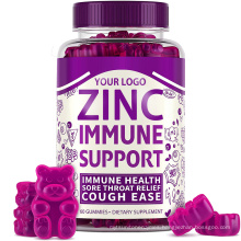 Zinc Gummy with Black Pepper Extract Plant Based Supplements for Immunity Boost with Private Label