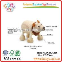 Wooden 3D Models Toys - Polar Bear Toy