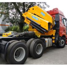 Guindaste montado em caminhão com lança dobrável OUCO 25T com controle remoto