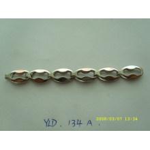 Fashion style custom brass flat metal chain for purse