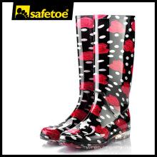 Women plastic boots, transparent rain boots women,women's colorful rain boots W-6040D