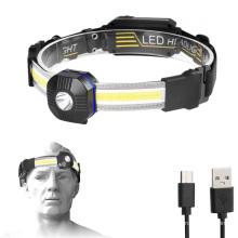 Outdoor Lightweight 500Lumen Super Bright Rechargeable Headlamp Flashligh Waterproof Portable LED Headlights for camping running