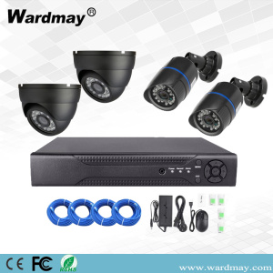 4chs 4.0MP Video Pengawasan Sistem Poe NVR Kit
