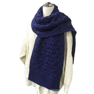 Longue épaisse d'hiver en tricot long unisexe tricoté unisexe pour femme (SK148)