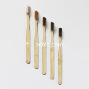 Ensemble de brosses à dents en bambou jetables