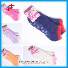cozy warm girl's teen microfiber home towel ankle socks custom logo