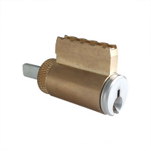 Cilindro de fechadura de porta com fechadura de latão de cobre simples
