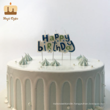Hot This Month One Hundred Percent Paraffin Blue Factory Happy Birthday Candle in Bulk for Boys