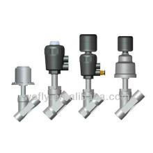 stainless steel pneumatic angel seat valve