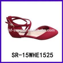 SR-15WHE1525 la señora calza 2015 zapatos planos de las mujeres 2015 zapatos de la señora del mocasín de la manera