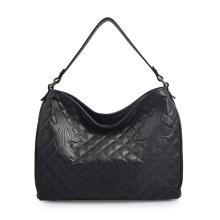 Tignanello Black Pebble Leather Schultertasche Large Tote