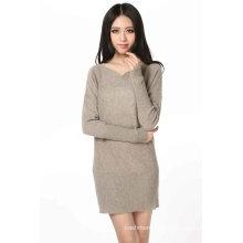 Women′s Long Sleeve Cashmere Dress (3092-2013029)