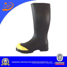 Fashion Yellow Collar Wide Calf Rubber Boots