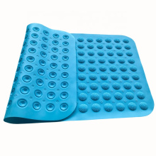 Customized high temperature resistant bathroom floor non-slip shower mat non-slip massage silicone shower mat