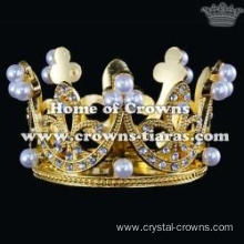 Crystal Crown Pendant With Pearls