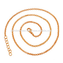 Beautiful 18K Gold Plated Brass Chain in 20 Inch Length for Simple Gift
