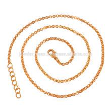 Красивая 18k золото покрытием цепи латуни в 20 дюймов Длина для простой подарок