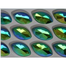 Jet Ab Flat Back Stones Strass Beads