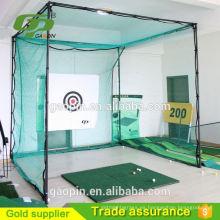 venta caliente equipo de práctica de golf red y jaula
