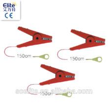 сильный электрический забор зажимы типа крокодил,подключить кабель, вывести кабель для электрической ленты забора