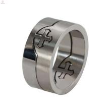 Hot sale removable celtic cross ring, maltese cross ring, cross cross ring