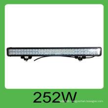 High quality CE&ROHS 252W DC10-30V IP68 led car rigid bar,3 years warranty