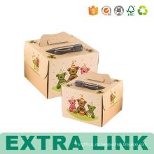 Karton-Pappgeburtstags-Papier-Verpackungs-Kuchen-Kästen mit Fenster