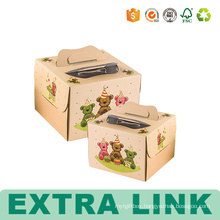 Carton Cardboard Birthday Paper Packing Cake Boxes With Window