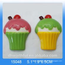 Special gift ceramic refrigerator magnet with icecream figurine
