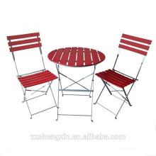 Ensemble de table à barres pliante en métal en métal extérieur