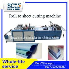 Máquina do cortador da tela, rolo plástico à máquina de corte da folha