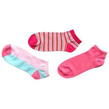Calcetines de algodón de moda de tobillo mujeres con color teñido (afc-03)