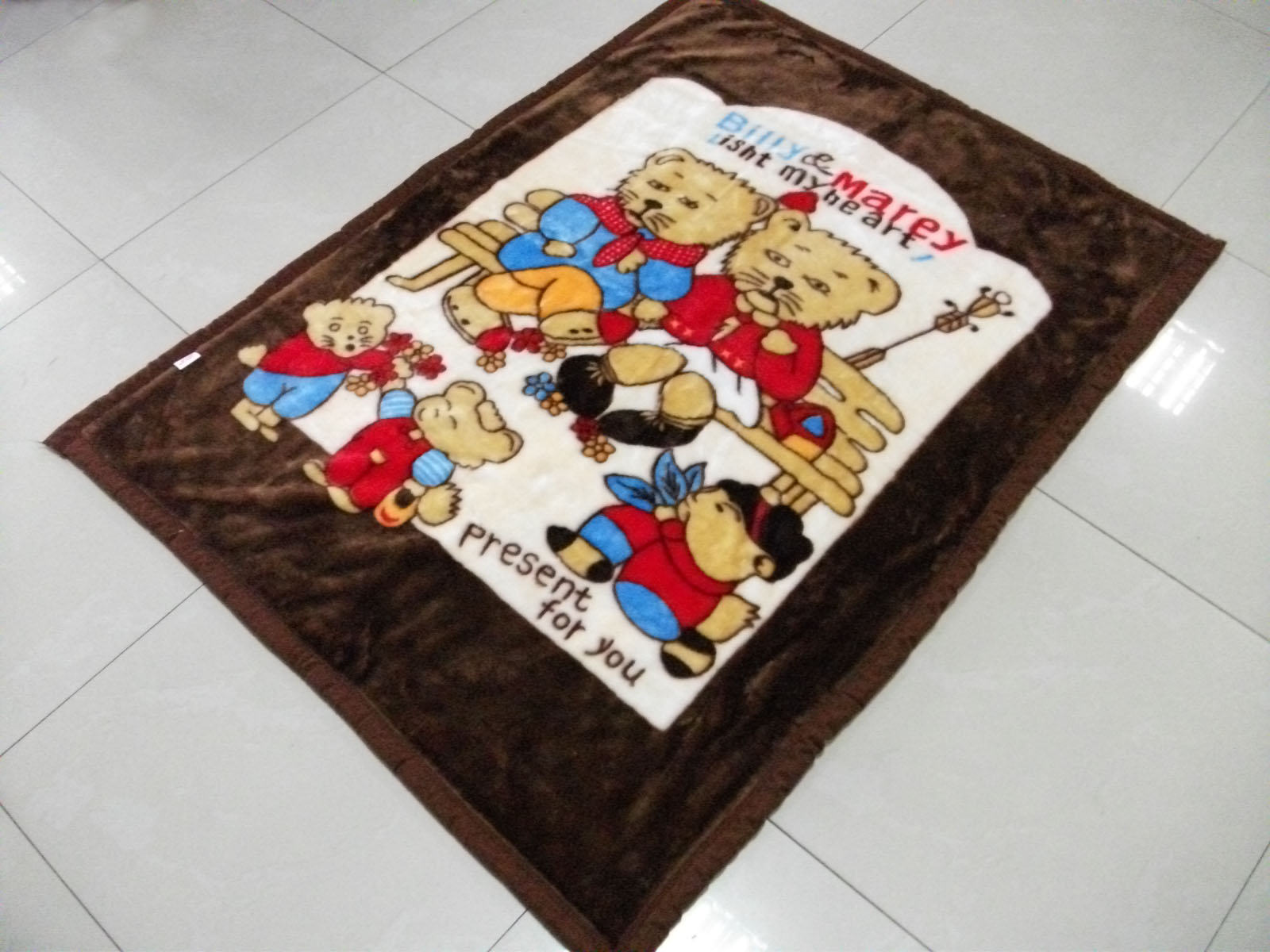 Cartoon patterns baby blanket