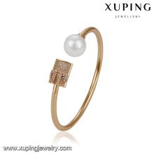 51719 xuping simple gold bangle design,fashion Pearl bangle