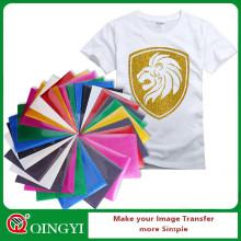 Qingyi A4 sheet glitter heat transfer vinyl