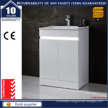 White Lacquer MDF Floor Standing Bathroom Vanitiy Unit