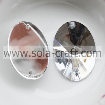 Transparante 21 * 30MM vonken facetten ovale Crystal Spacer losse DIY kralen Chinese leverancier