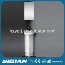 Slim Floor Standing PVC White Space Saver Móveis de banheiro pequeno