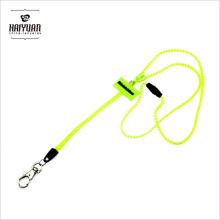 Fluorescent Light Special Zipper Lanyards with Soft Glue Mark