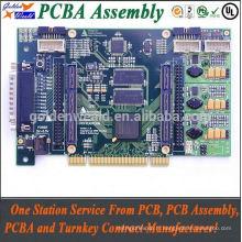 Assemblée de carte PCB de carte mère pcba avec ENIG pour les produits de sécurité Assemblée de carte PCB de clé en main OEM Assemblée de carte de circuit imprimé