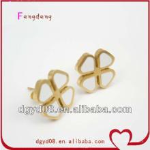 Boucles d'oreilles en trèfle à quatre feuilles