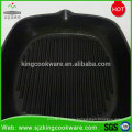 Hot sale cast iron non-stick square grill fry pans