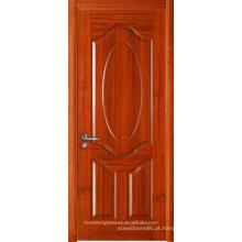 Design de Porta Principal Moldada em Madeira de Teca